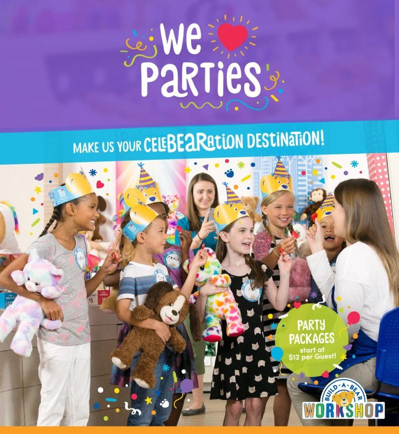 Party Packages from Build-A-Bear Workshop