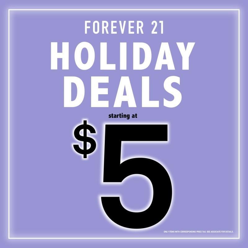 Holiday Deals Starting at $5