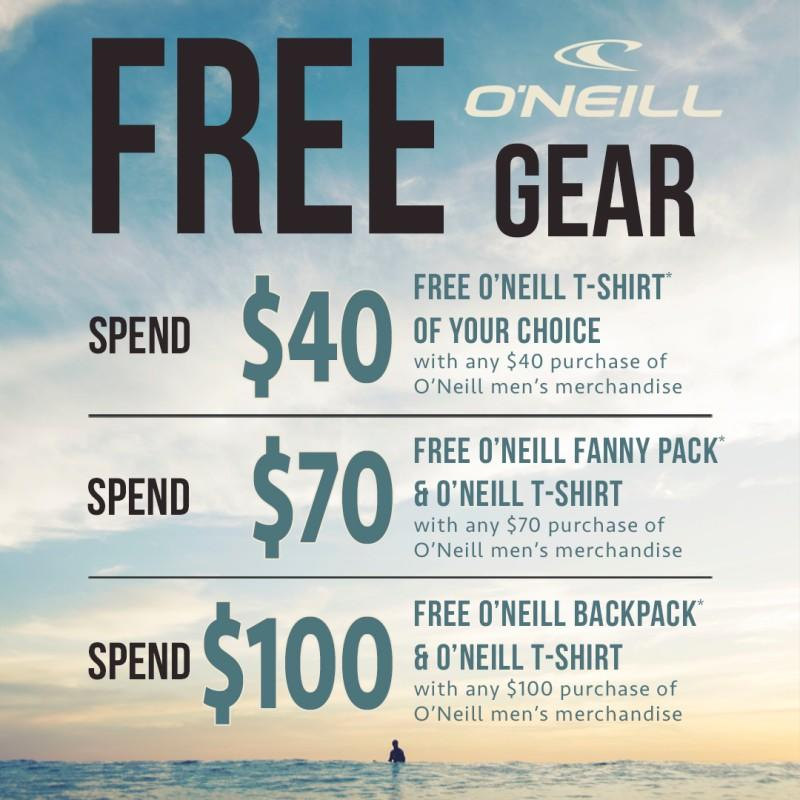 Free O'Neill Gear from T&C Surf Designs