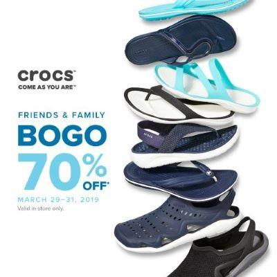 Friends & Family BOGO from Crocs