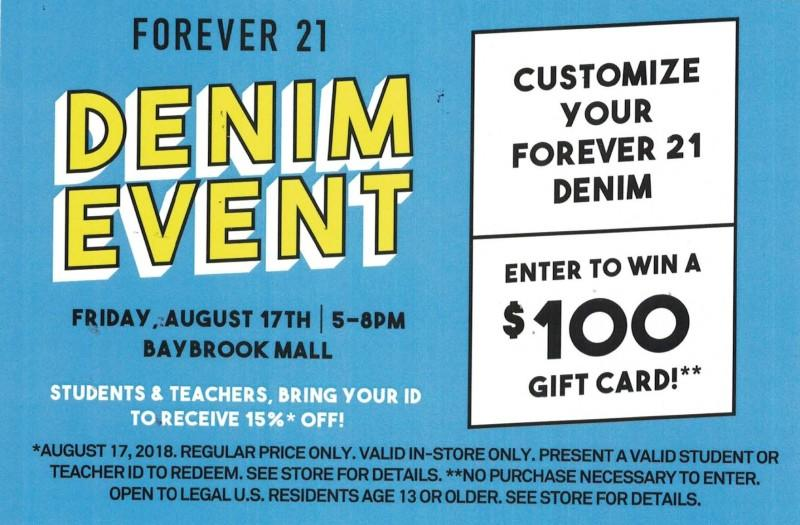 Denim Event from Forever 21