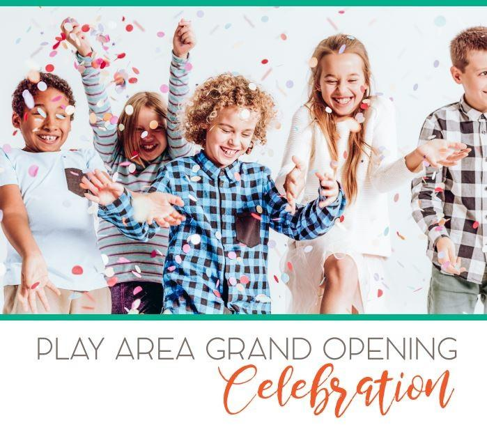 Kids laughing while standing next to each other. Event details listed under image.