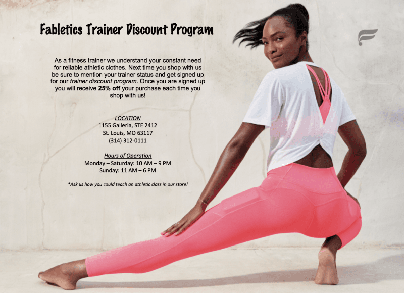 Trainer Discount Program from Fabletics