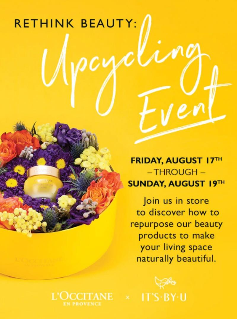 Upcycling Event from L'Occitane