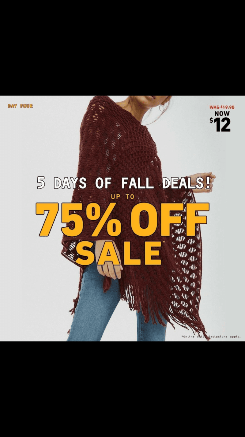 Additional 50% off all Current Markdowns! from Forever 21