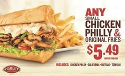 Chicken Philly & Fries Special from Charley's Grilled Subs