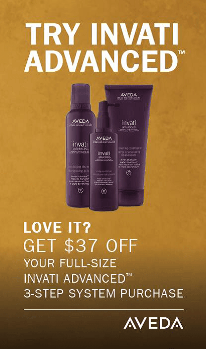 $37 Invati Advanced Trial Kit from Aveda