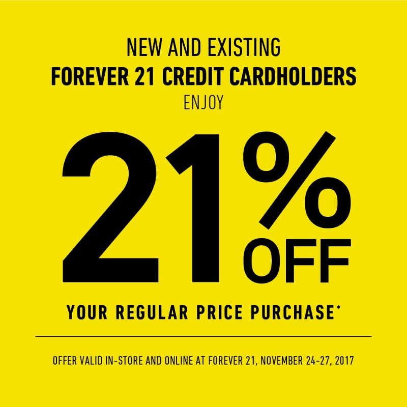 New and Existing Credit Card Holders Enjoy 21%