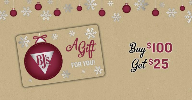 Order BJ'S Restaurant & Brewhouse Gift Cards for the Holidays! from BJ's Restaurant & Brewery