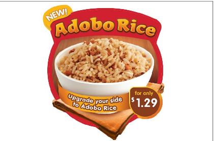 Now Serving Adobo Rice from Jollibee