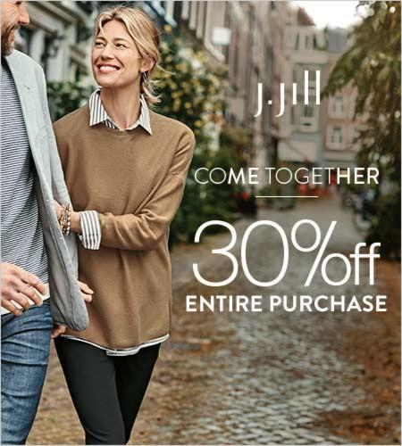 30% off Entire Purchase from J.Jill
