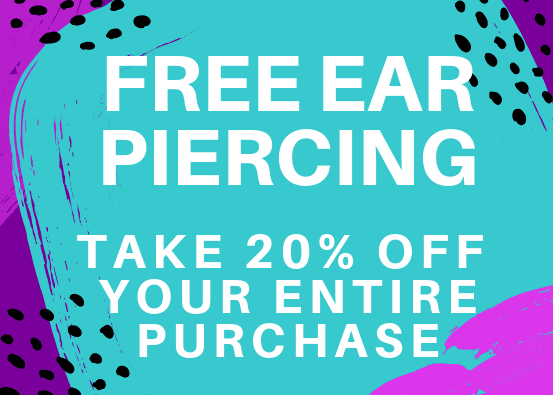 Free Ear Piercing & 20% Off Your Entire Purchase from Claire's