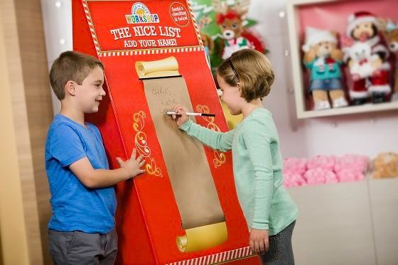 Build-A-Bear Workshop is the official place to sign Santa's Nice List!