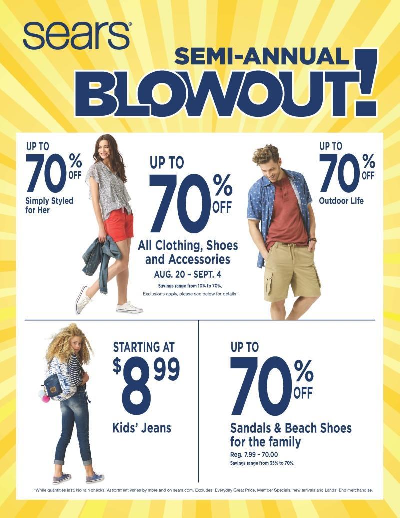 Sears Semi-Annual Blowout!