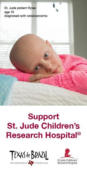 Support St. Jude Children's Research Hospital from Texas De Brazil