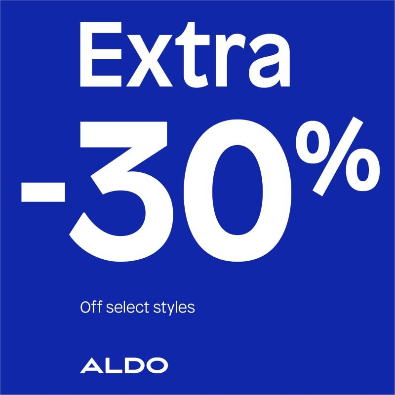 Extra 30% off from ALDO Shoes