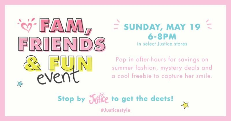 Family, Friends & Fun Event from Justice