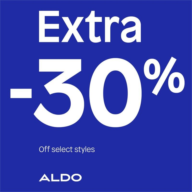 Extra 30% Off on Select Styles! from ALDO Shoes