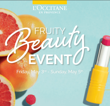 Fruity Beauty Event from L'Occitane