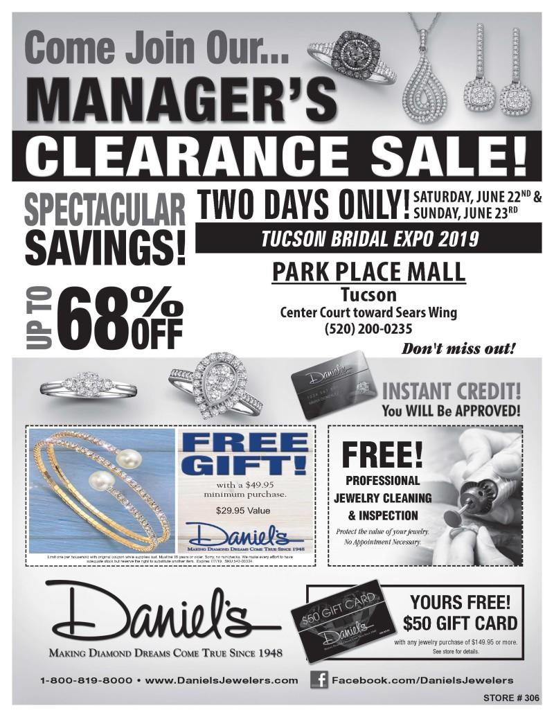 Managers Clearance Sale from Daniel's Jewelers