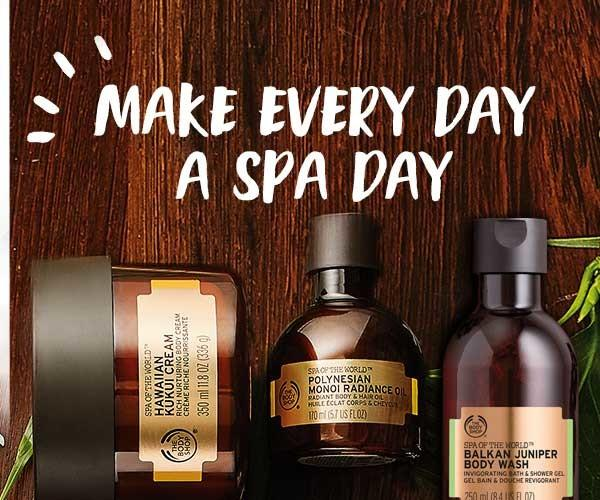 Spa of the world collection from The Body Shop