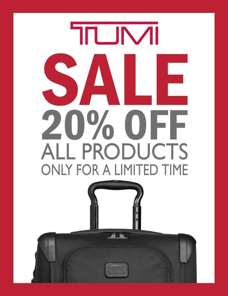 The Tumi Fall Sale Event at Colorado Baggage from Colorado Baggage