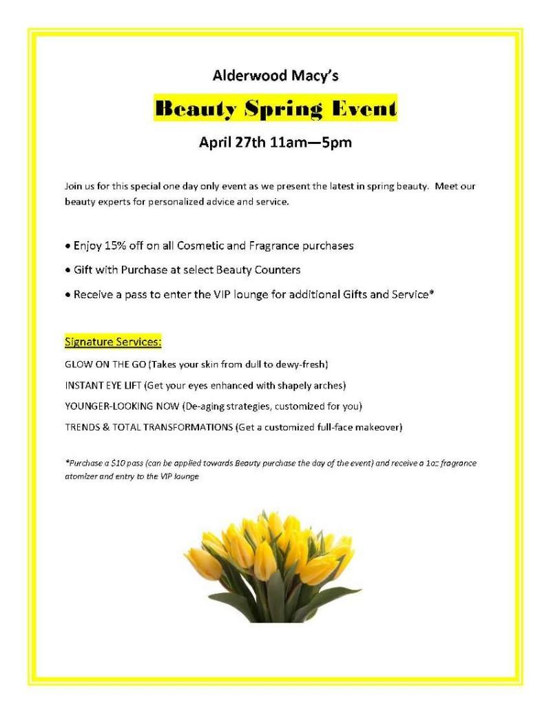 Flyer with yellow flowers