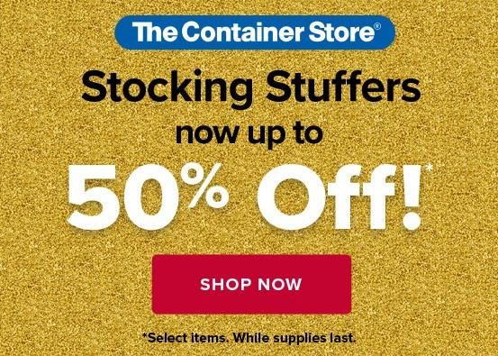 50% on our best-selling Stocking Stuffers from The Container Store