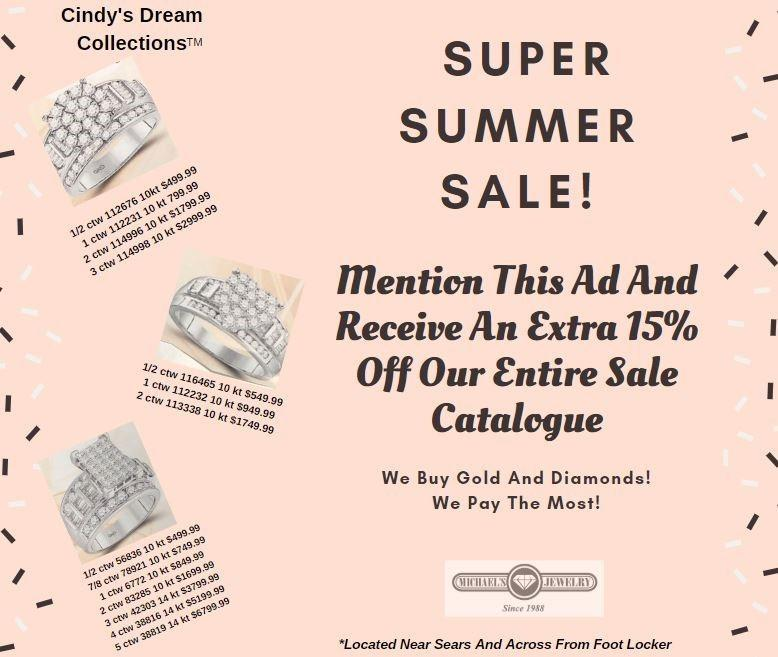 Summer Sale at Michael's Jewelry