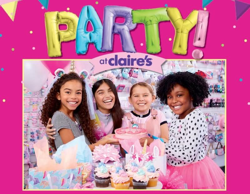 It's a party at Claire's!