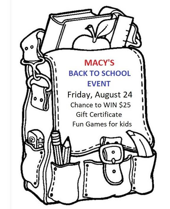 Macy's Back To School Event