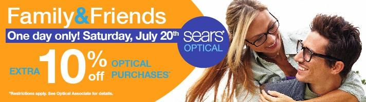 Sears Optical Friends and Family Day from Sears