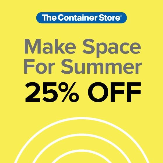 Make Space For Summer Sale from The Container Store