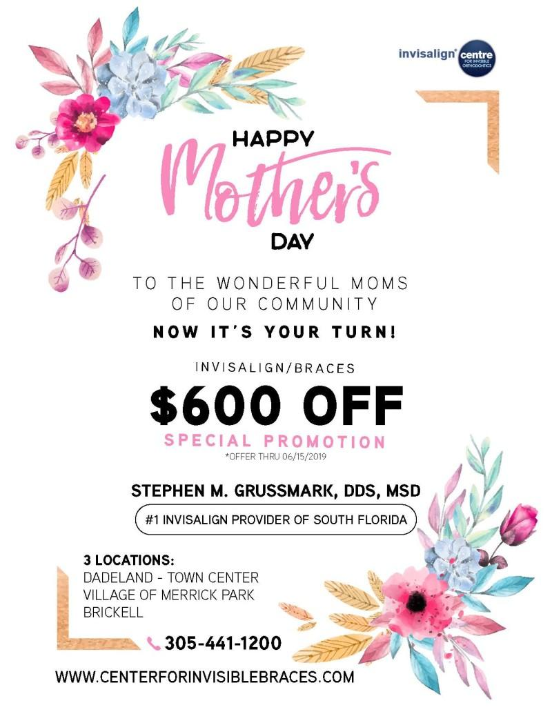 Happy Mother's Day Promotion from S. Grussmark Invisalign Center