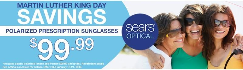 Sears Optical $99.99 Polarized Prescritpion Sunglasses* from Sears