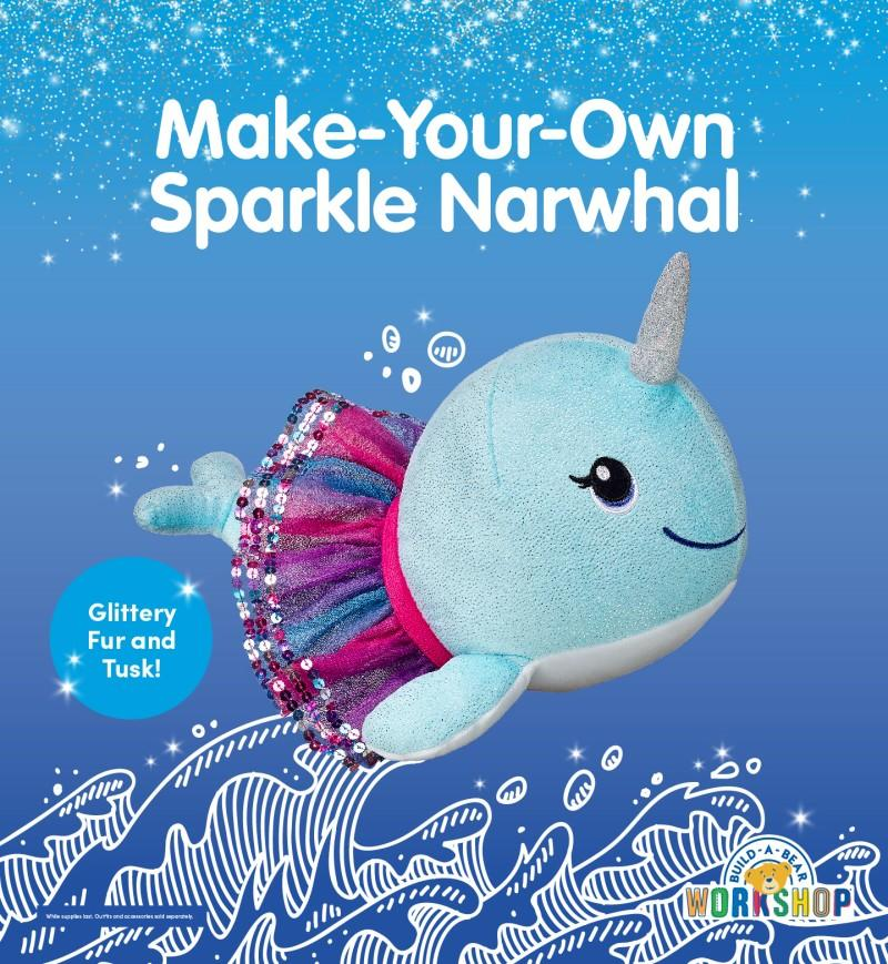 Make Your Own Sparkle Narwhal! from Build-A-Bear Workshop