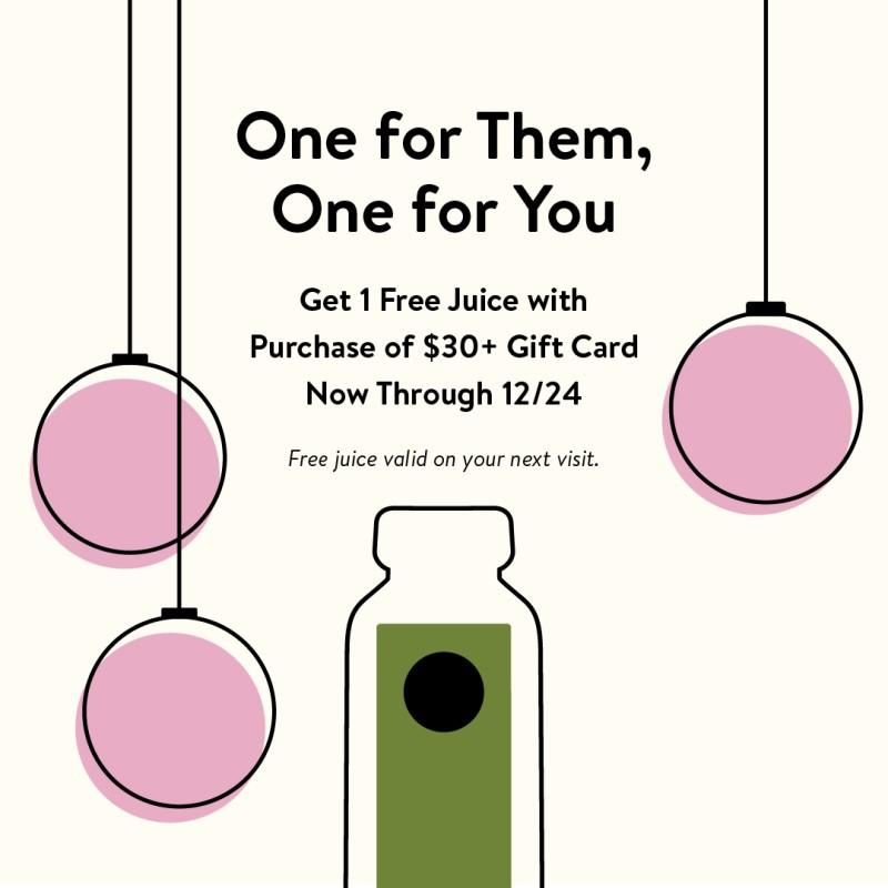 Gift Card Promotion from Pressed Juicery
