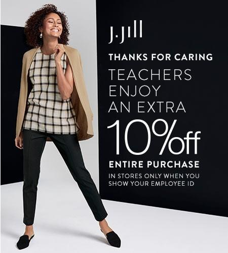 10% off For All Teachers from J.Jill