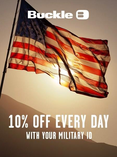 Military Discount Everyday from Buckle