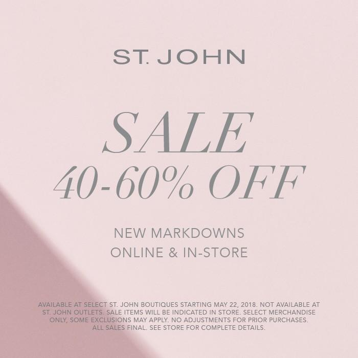 Save 40-60% on New Markdowns from St. John