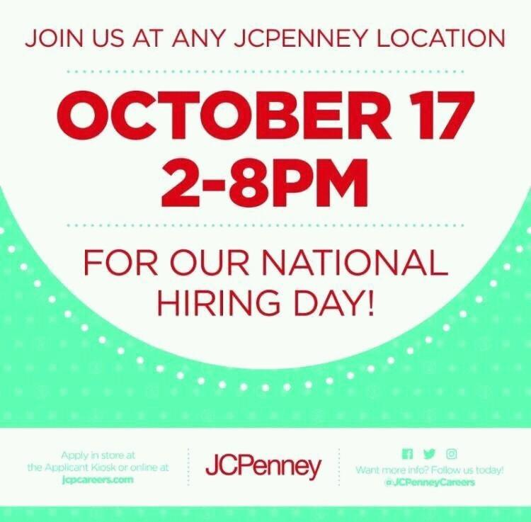 Image result for jcpenney hiring event october 2017