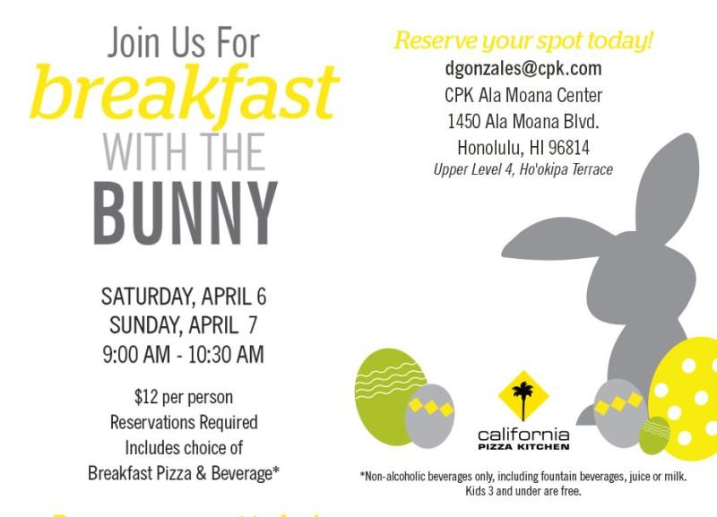 Breakfast with the Bunny from California Pizza Kitchen