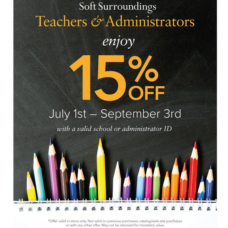 Soft Surroundings Teacher Appreciation Discount from Soft Surroundings