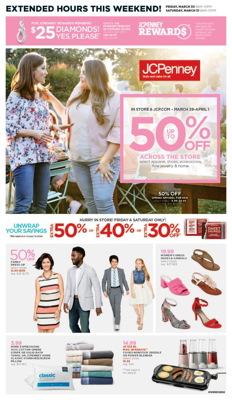 March 29-March 31 promotion from JCPenney