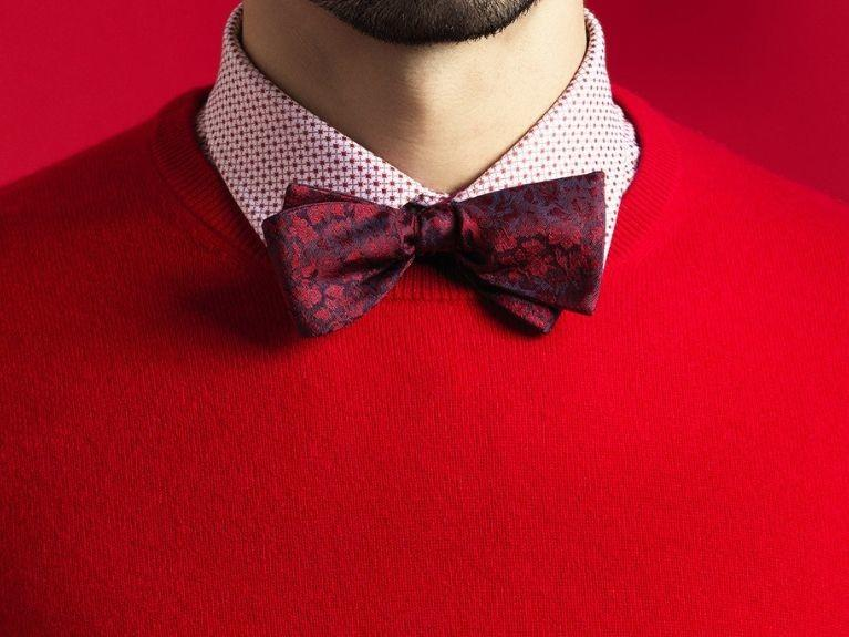 Man with a red bow tie