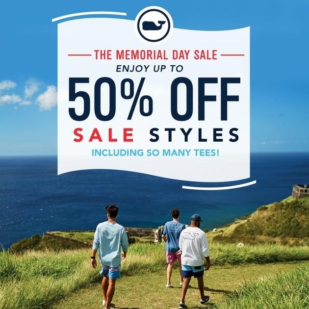 Save up to 50% Off sale styles on The Summer's Best Tees & So. Much. More! from vineyard vines