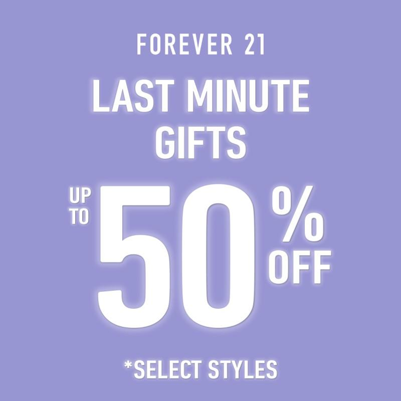 50% Off Last Minute Gifts