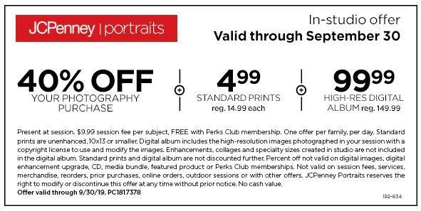 JCPenney Portraits In-Studio Offer