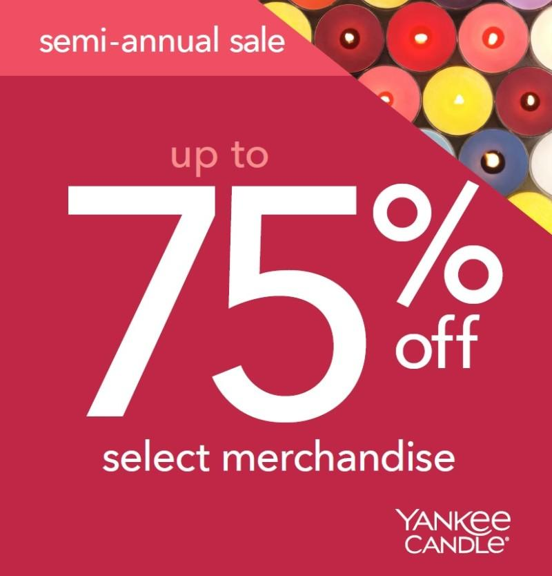 Semi Annual Sale from Yankee Candle