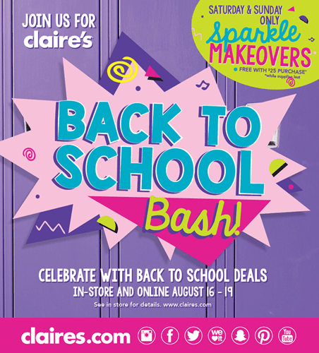 Back to School Bash from Claire's